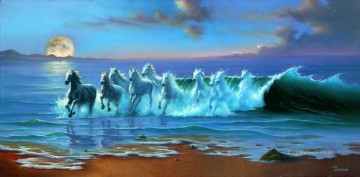 JW horse of waves Oil Paintings
